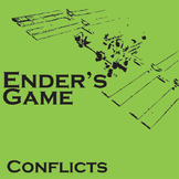 ENDER'S GAME Conflict Graphic Organizer - 6 Types of Conflict