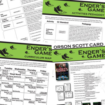 ENDER'S GAME Unit Novel Study (by Orson Scott Card) - Literature Guide