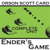 ENDER'S GAME Unit Plan - Novel Study Bundle (Orson Scott Card) Literature Guide