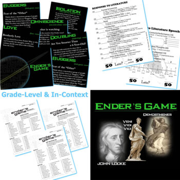 ENDER'S GAME Unit Plan - Novel Study Bundle (Orson Scott Card) Literature Guide