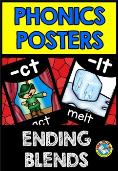 ENDING BLENDS POSTERS: BACK TO SCHOOL CLASS DECOR