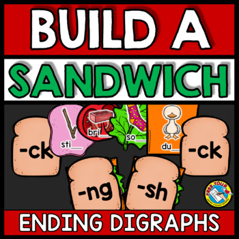ENDING DIGRAPHS ACTIVITIES (BUILD A SANDWICH GAME)