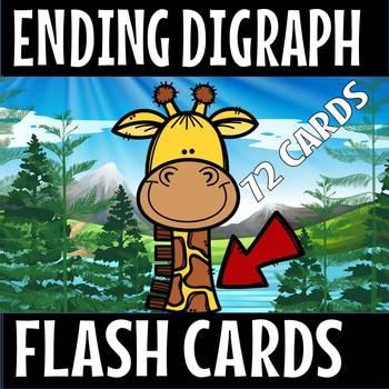 ENDING DIGRAPHS FLASH CARDS