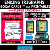 ENDING TRIGRAPHS: READ, WRITE AND MATCH/TYPE BOOM Cards™ a