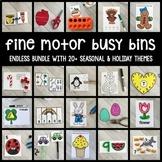 ENDLESS Bundle Fine Motor Busy Bins (morning work tubs) for Preschool, Pre-k