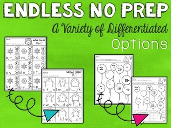 ENDLESS NO PREP for January Kindergarten