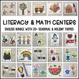 ENDLESS Literacy & Math Centers Bundle (Preschool, PreK, Kindergarten)