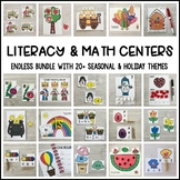 ENDLESS Literacy & Math Centers Bundle (Preschool, PreK, Kindergarten)