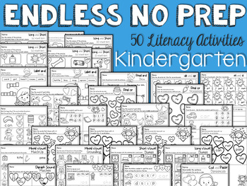 ENDLESS NO PREP for February Kindergarten
