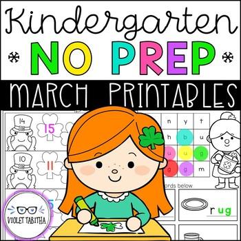 ENDLESS NO PREP for March Kindergarten