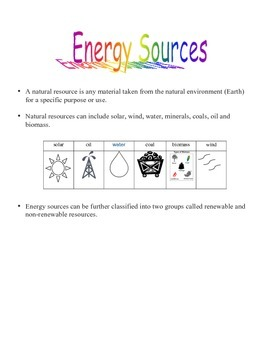 CONSERVATION OF ENERGY UNIT: QUIZ TEST STUDENT NOTES AND MORE GRADE 5 ONTARIO