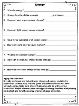 ENERGY BUNDLE Energy Sound Pitch Volume Light Heat Chemical