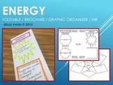ENERGY Brochure foldable / graphic organizer, Interactive Notebook