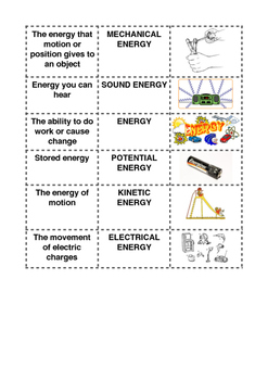 ENERGY CUT AND MATCHING
