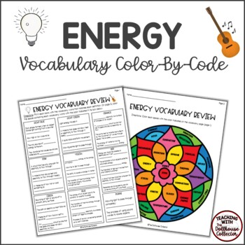 ENERGY Color-By-Code Vocabulary Review