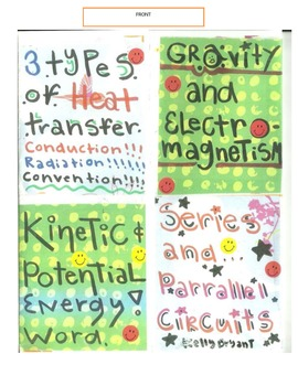 ENERGY FOLDABLE: ENERGY, ELECTRICITY, MAGNETISM, CIRCUITS