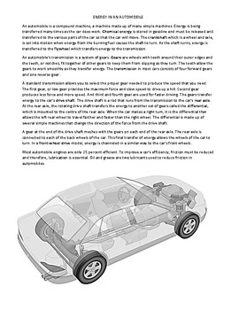 ENERGY IN AN AUTOMOBILE