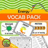 ENERGY Vocab Rebus Posters Games