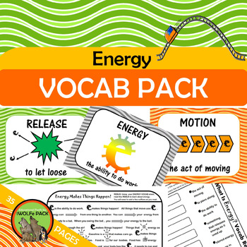 ENERGY Vocab Rebus Posters Games
