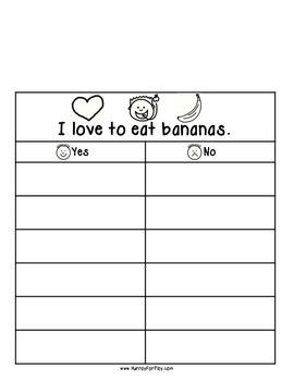 Freebie: Foods I like Vol I - Surveys (English)