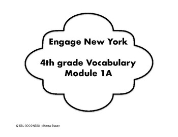 ENGAGE NY 4th Vocabulary Cards in English & Spanish Module 1A Unit 1