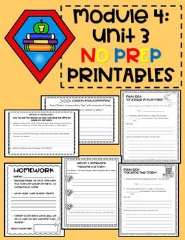 ENGAGE NY EL 3rd grade M4U3 No-Prep Printables