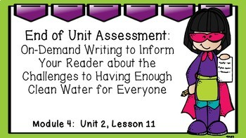 ENGAGE NY EL 3rd grade Module 4:  Unit 2, Lesson 11 PowerPoint