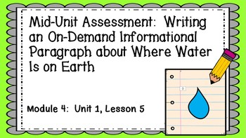 ENGAGE NY EL 3rd grade Module 4:  Unit1, Lesson 5 PowerPoint