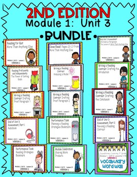 ENGAGE NY Expeditionary Learning 3rd Grade Module 1 Unit 3 2nd Edition BUNDLE