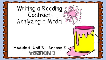 ENGAGE NY Expeditionary Learning PowerPoint Module 1 Unit 3 Lesson 5 Version 2