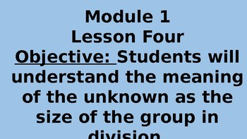 ENGAGE NY MATH GRADE 3 MODULE 1 LESSON 4 POWERPOINT !!