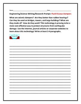 ENGINEERING/SCIENCE WRITING PROMPT: FLUID VISCOUS DAMPERS