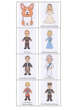 ENGLAND - THE BRITISH ROYAL FAMILY FLASHCARDS