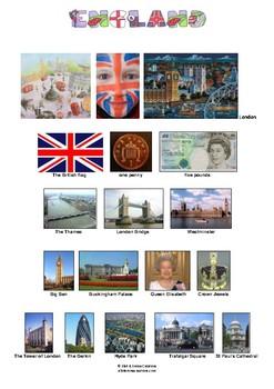 ENGLAND - PICTIONARY