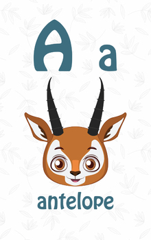 ENGLISH ANIMAL ALPHABET CARDS