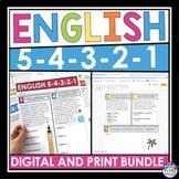 ENGLISH BELL RINGERS OR HOMEWORK DIGITAL AND PRINT BUNDLE