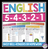 ENGLISH BELL RINGERS OR HOMEWORK: FULL YEAR BUNDLE