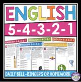 ENGLISH BELL RINGERS OR HOMEWORK: FULL YEAR BUNDLE
