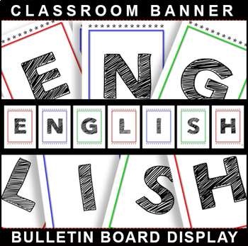 Back-To-School! ENGLISH Bulletin Board Display for Classroom Signage!