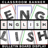 #1 Back-To-School! ENGLISH POSTER Bulletin Board Display f