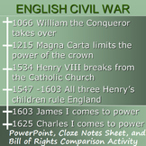 ENGLISH CIVIL WAR : powerpoint & activity