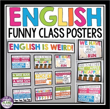 English class posters