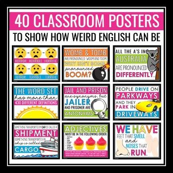 ENGLISH CLASSROOM POSTERS / BULLETIN BOARD