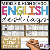 ENGLISH DESK TAGS BUNDLE: FICTION, POETRY, NON-FICTION, DRAMA