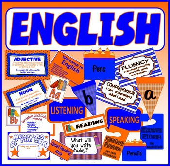 ENGLISH DISPLAY RESOURCES - CLASSROOM DISPLAY KEY STAGE 1-4