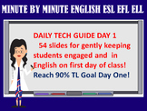 ENGLISH ESL EFL ESOL ELL FIRST DAY OF CLASS WITH 90% TARGE