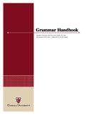 ENGLISH GRAMMAR FOR HIGHER EDUCATION