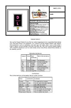 ENGLISH  GUIDE WORKSHOP BASIC LEVEL (PRESENT PERFECT)