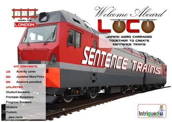 ENGLISH LITERACY:GRAMMAR: Loco- Sentence Trains Kit 02