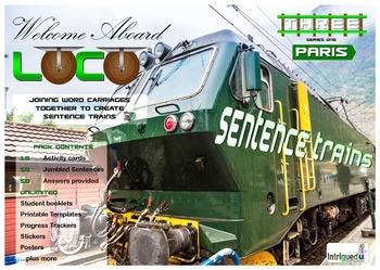 ENGLISH LITERACY:GRAMMAR: Loco- Sentence Trains Kit 03